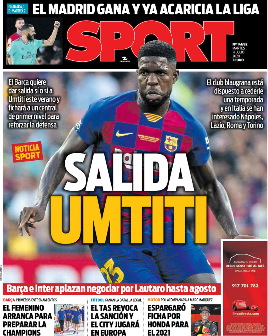 Samuel Umtiti poussé vers la sortie par le club — FC Barcelone