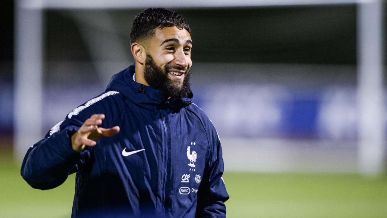 Fekir équipe de France sourire