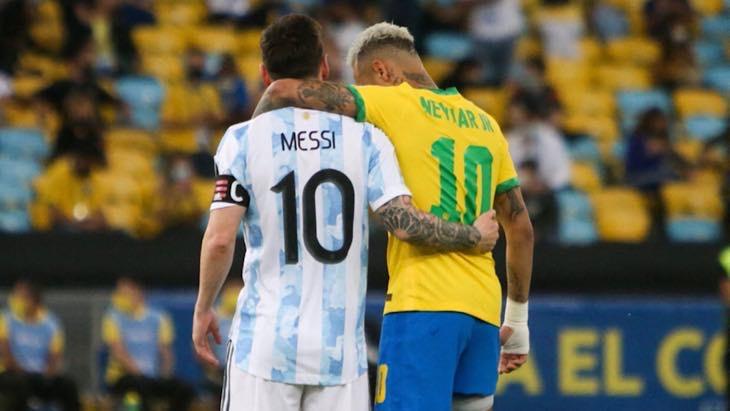 Neymar Messi argentine Brésil