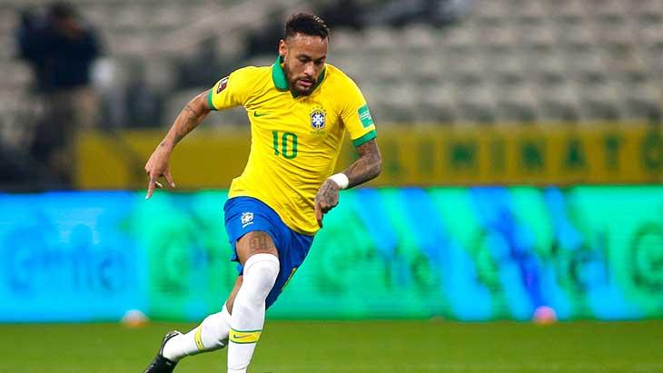Neymar (PSG) en sélection malgré sa blessure — Brésil