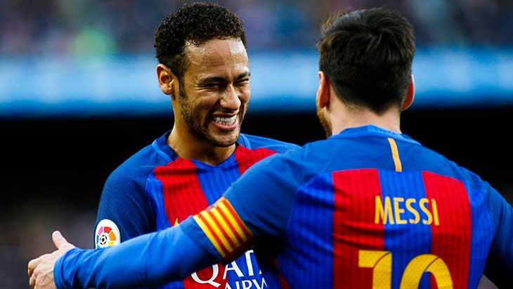 Neymar Messi Sourire