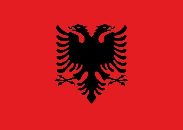 Drapeau du pays : Albanie