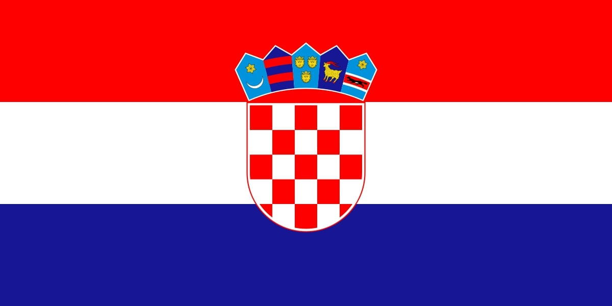 Drapeau du pays : Croatie