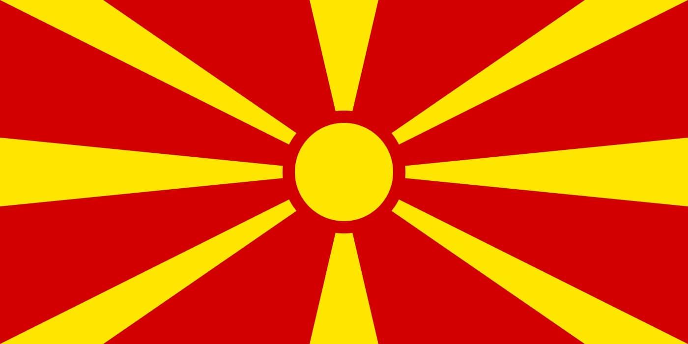 Drapeau du pays : Macédoine